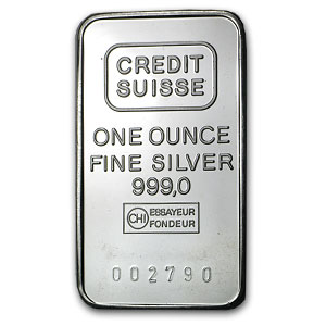 1 oz Silver Bars - Credit Suisse