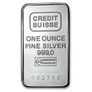 1 Oz Silver Bar Credit Suisse 1 Oz Silver Bars Apmex