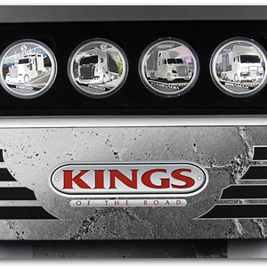 2010 1 oz Proof Silver Kings of the Road 4 Coin Set