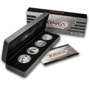 2010 4-Coin 1 oz Silver Kings of the Road Proof Set