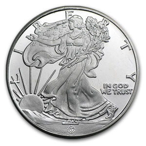 1/2 oz Silver Round - Walking Liberty Half Replica