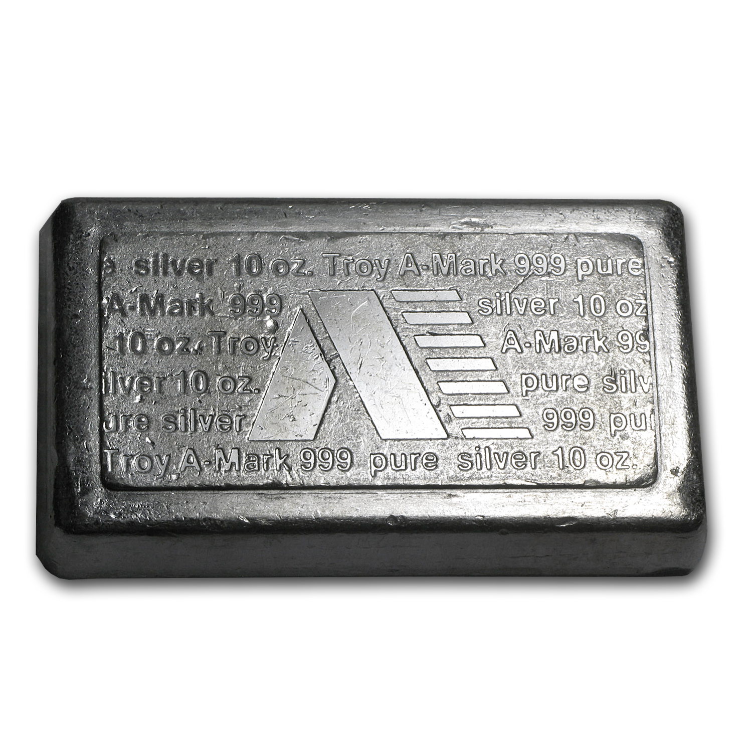 10 oz Silver Bar - A-Mark (Stackable)
