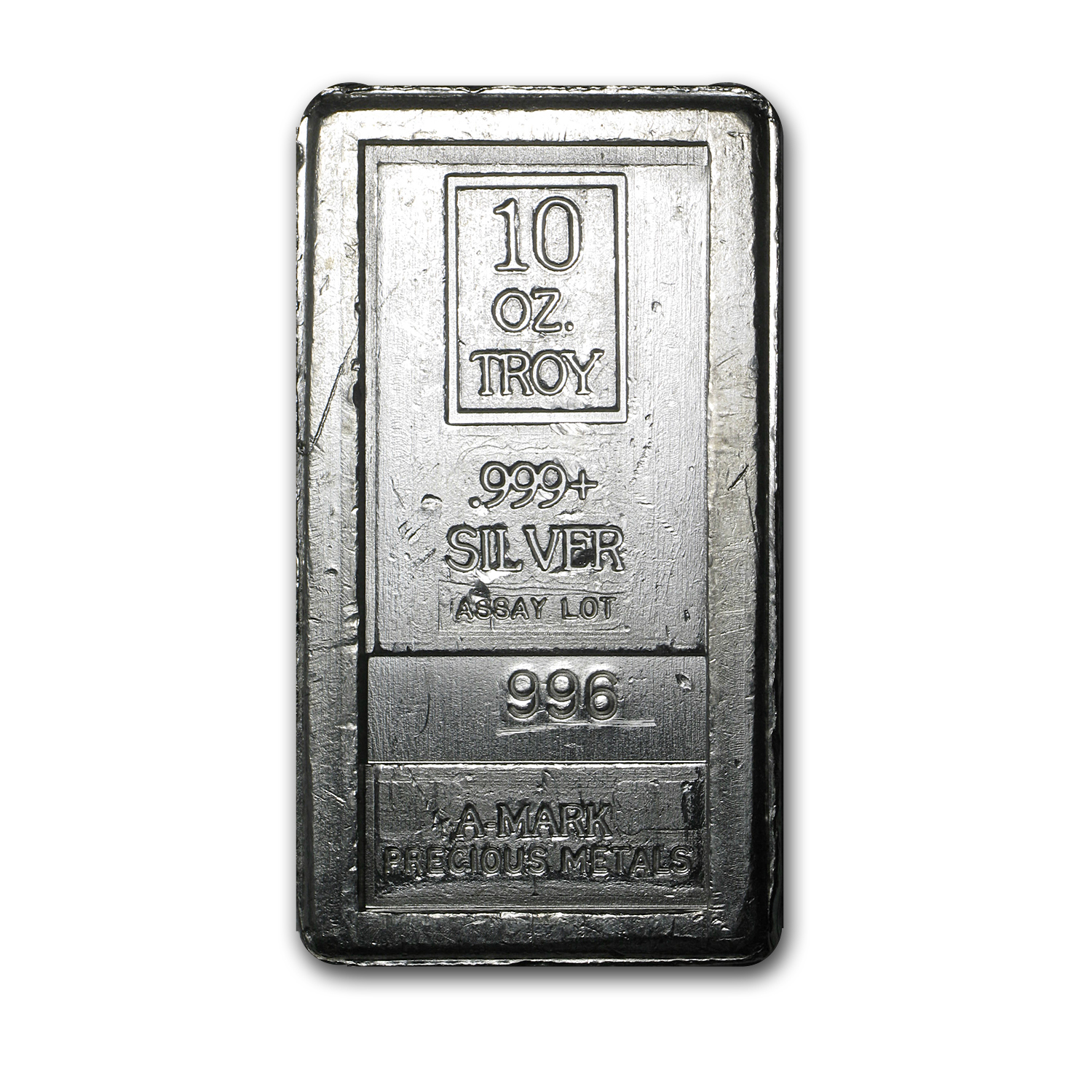 10 oz Silver Bars - A-Mark (Stackable)