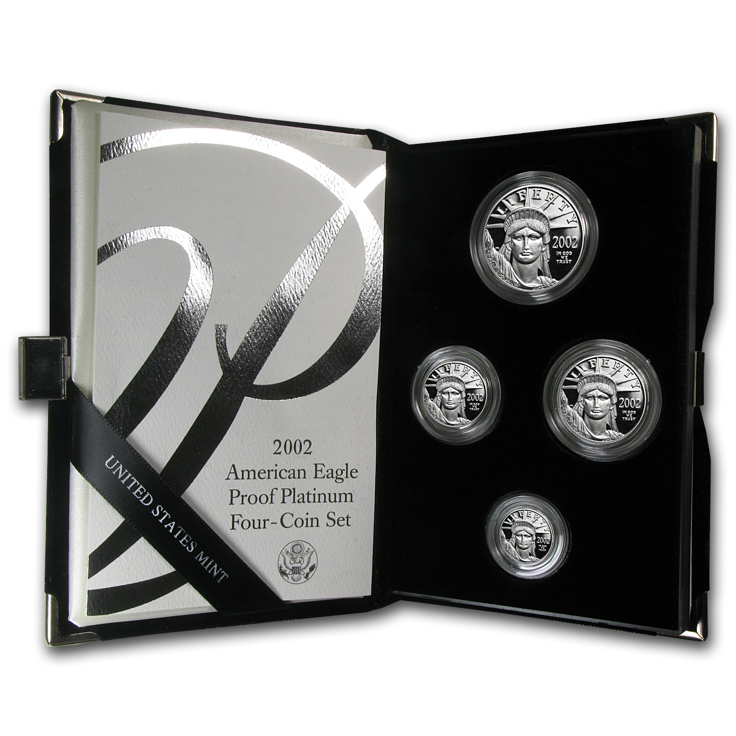 1997-2014 4-Coin Prf Platinum Eagle Set (Random Year, Box & COA)