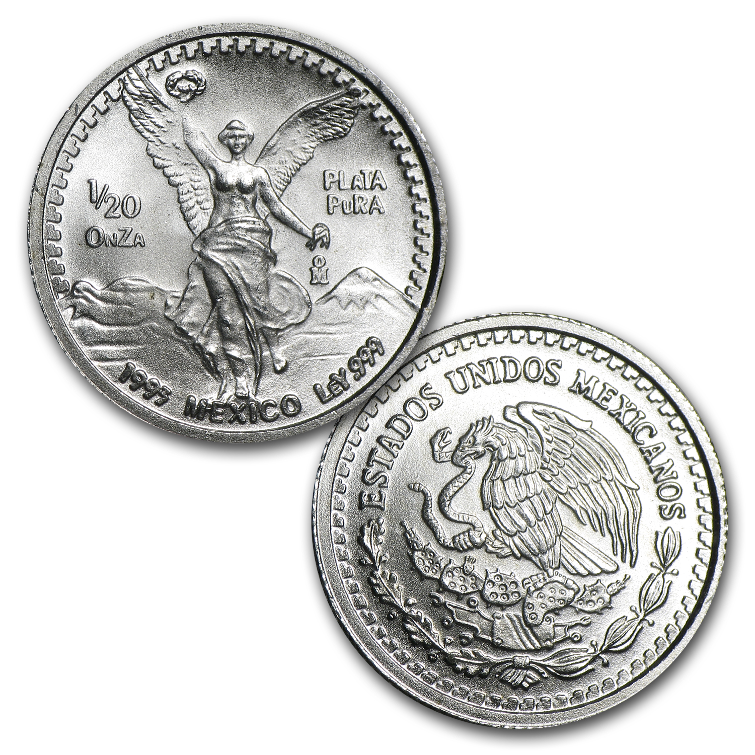 1993 Mexico 5-Coin Silver Libertad Set BU (1.9 oz)