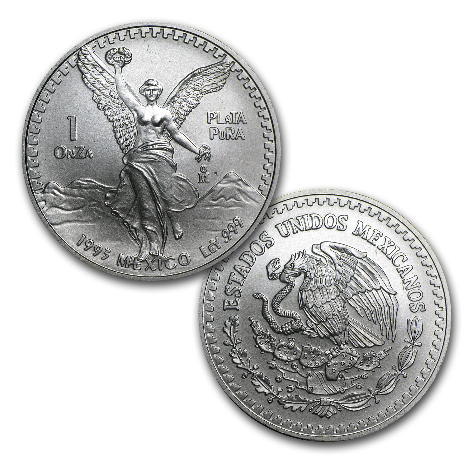 1993 5-Coin Silver Mexican Libertad Set BU (1.9 oz)