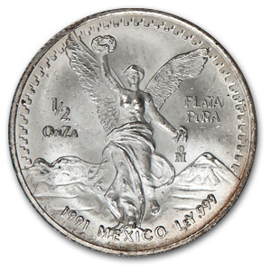 1991 Mexico 5-Coin Silver Libertad Set BU (1.9 oz)