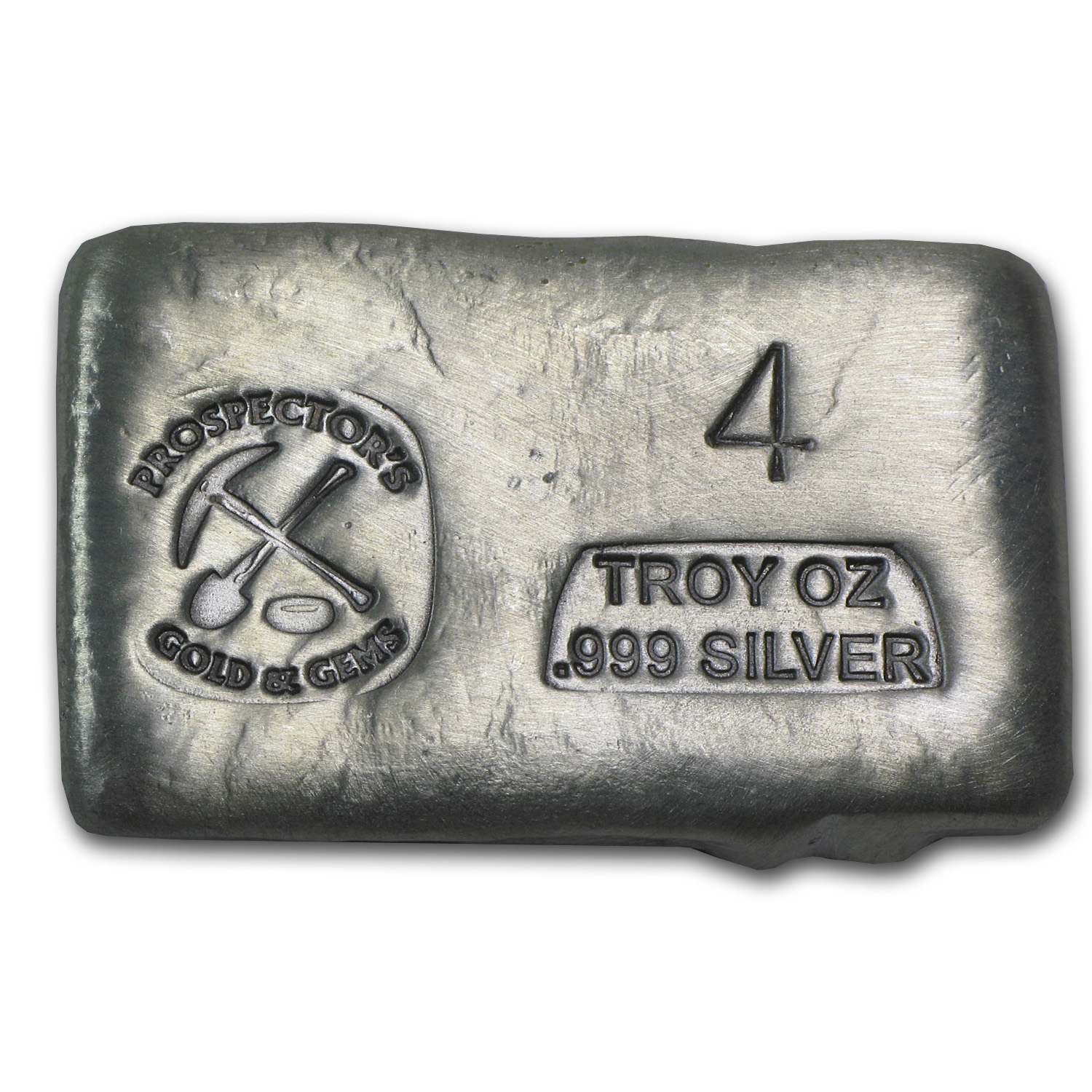 4 oz Silver Bar - Prospector's Gold & Gems