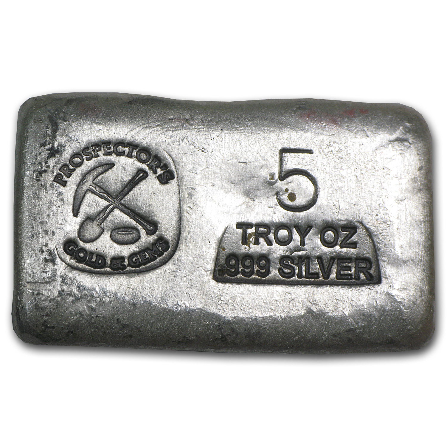 5 oz Silver Bar - Prospector's Gold & Gems