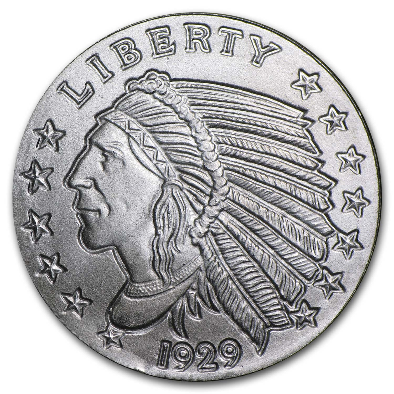 1/4 oz Silver Round - Incuse Indian