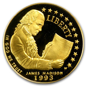 1993-W Bill of Rights - $5 Gold Commemorative - PR-70 DCAM PCGS