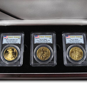 2006-W 3-Coin Gold American Eagle Set MS/PR-69 PCGS (FS)