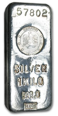 1 Kilo Silver Bar Emirates Gold Kilo 32 15 Oz