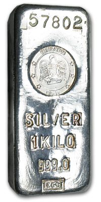 1 kilo Silver Bar - Emirates Gold