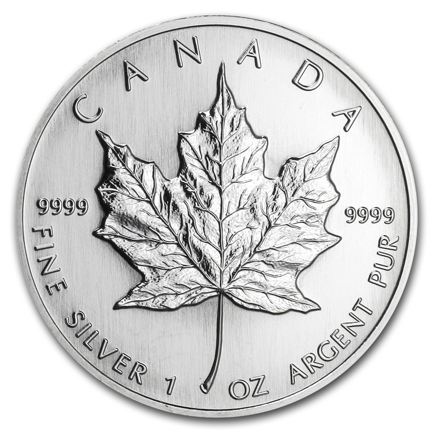 2001 1 oz Silver Canadian Maple Leaf (Autumn, Abrasions)
