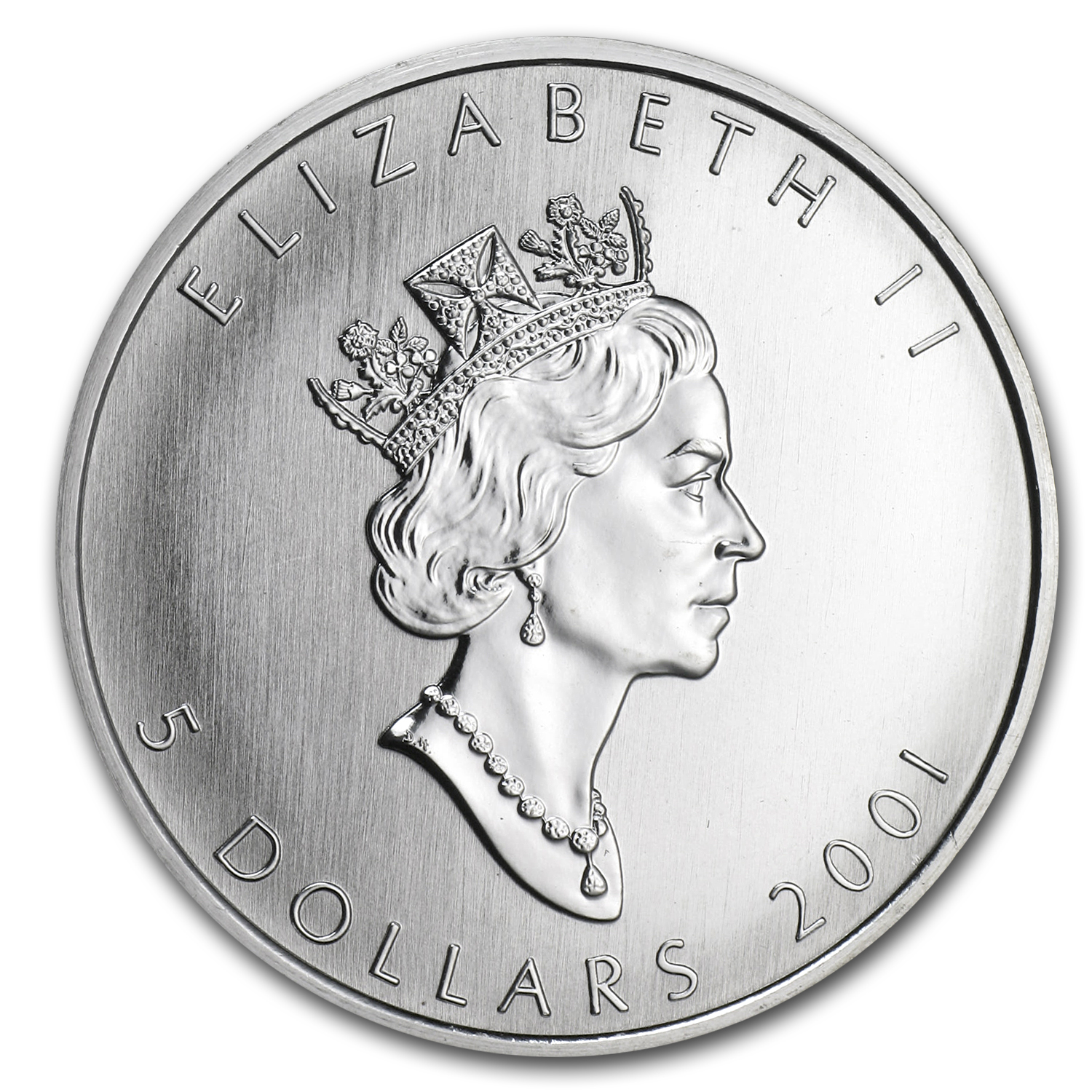 2001 1 oz Silver Canadian Maple Leaf (Autumn) (Abrasions)