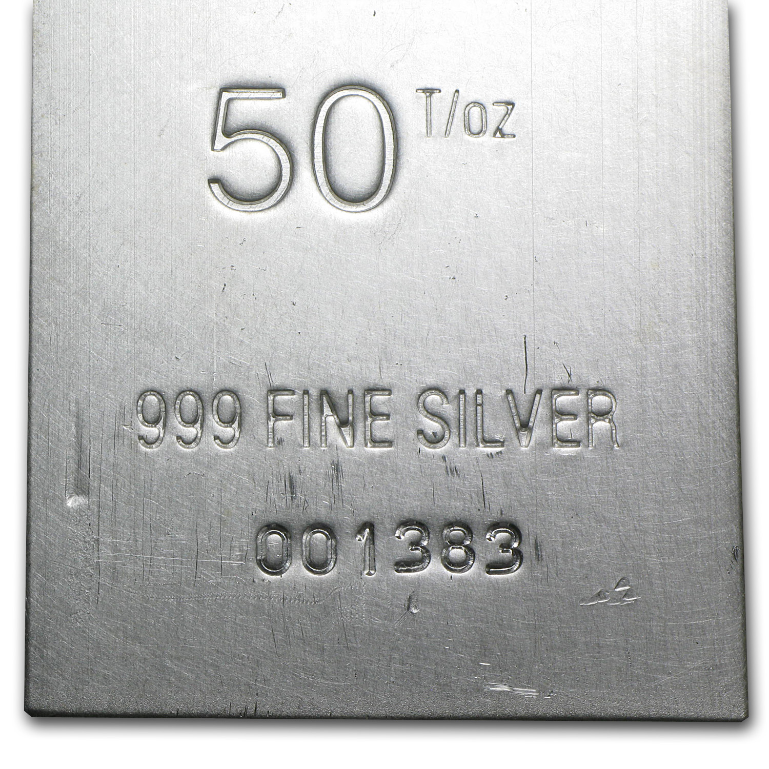 50 oz Silver Bar - Heraeus (Extruded)