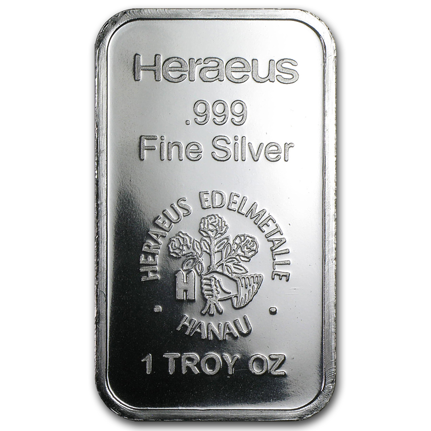 1 oz Silver Bar - Heraeus (New Design, V2)