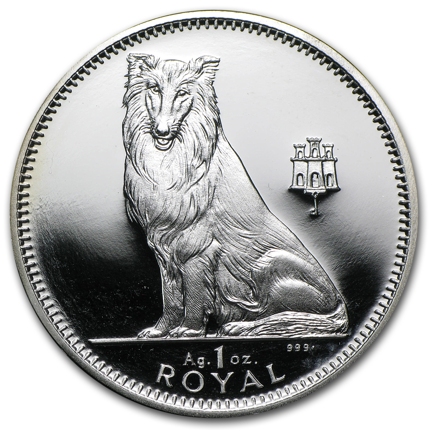 Gibraltar 1 oz Silver Dogs Proof (Random Dates)