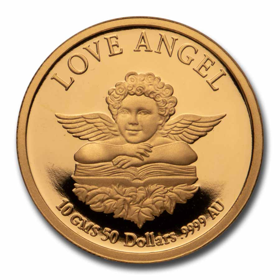 Cook Islands 1997 5-Coin Gold Proof Set Love Angel (1.083 oz)