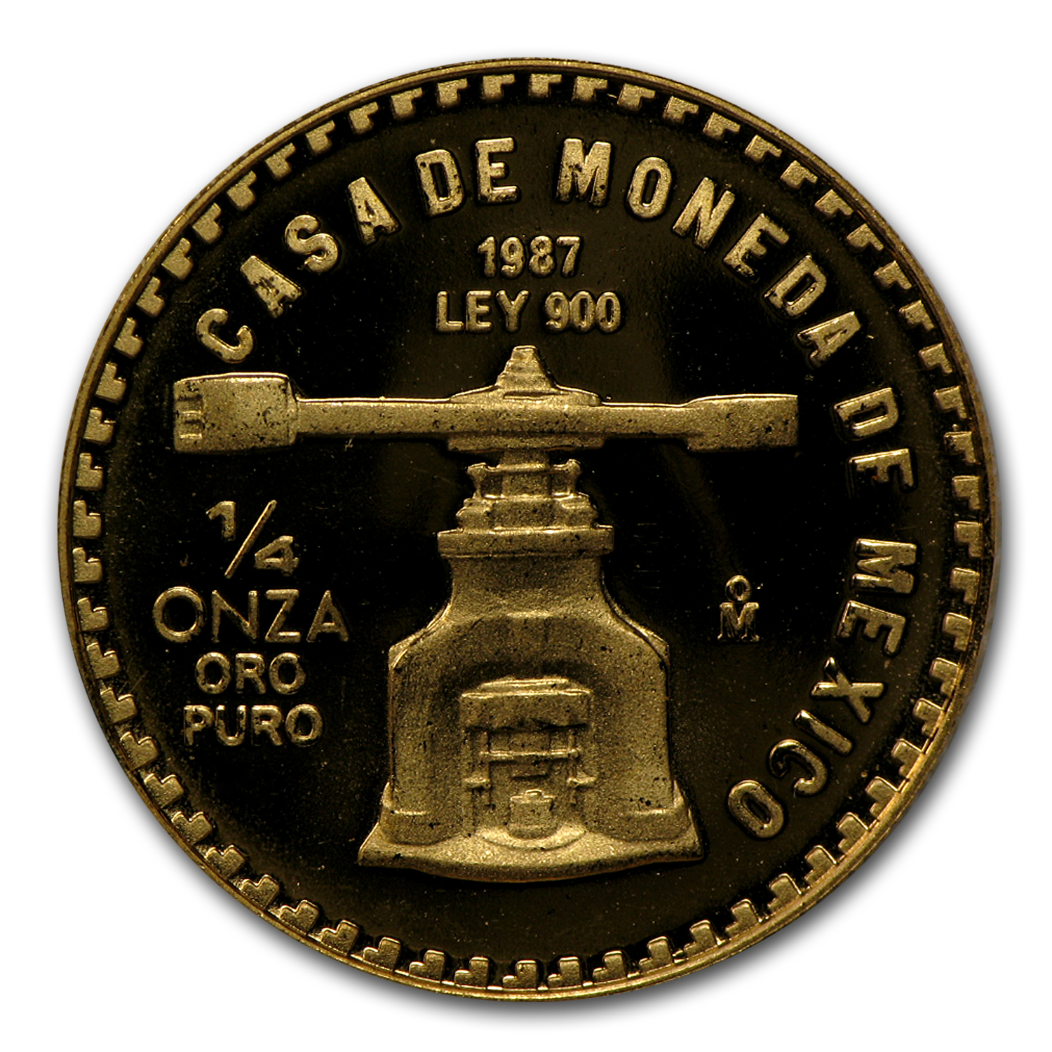 1987 Mexico 1/4 oz Proof Gold Libertad
