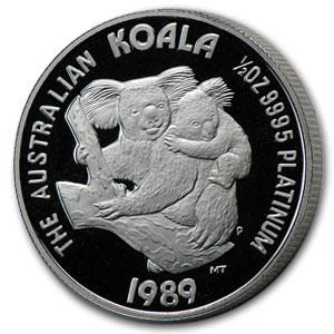1989 Australia 1/2 oz Proof Platinum Koala