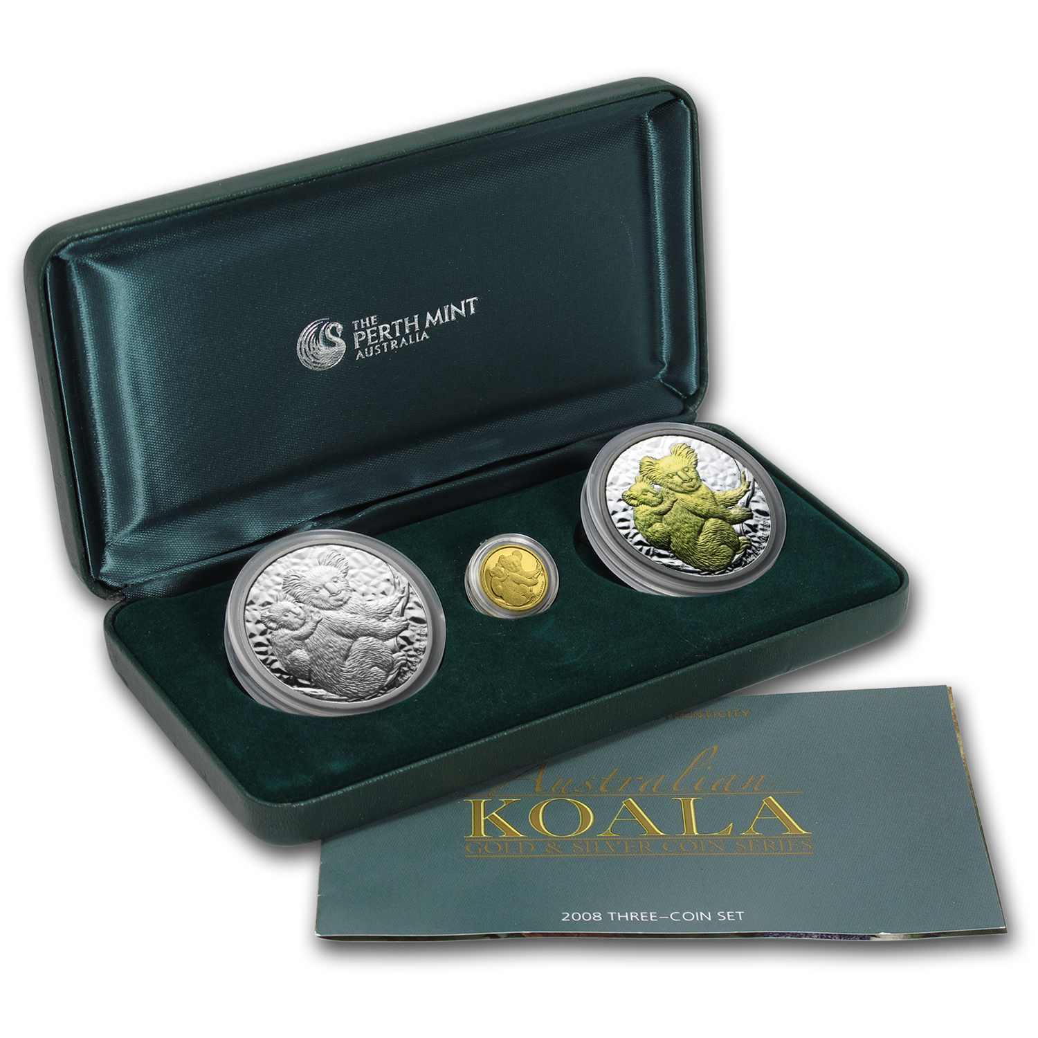 2008 Australia 3-Coin Gold & Silver Koala Proof Set