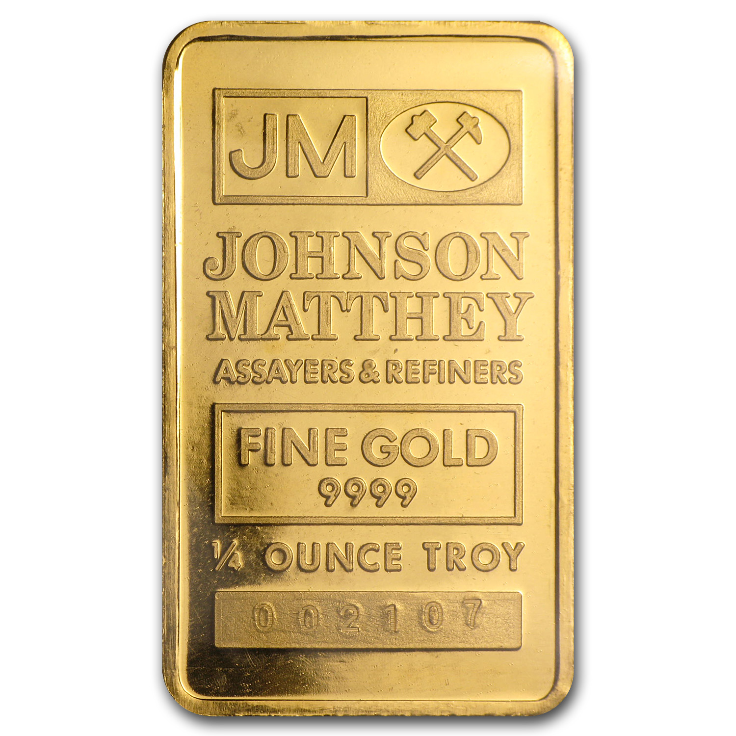 1/4 oz Gold Bar - Johnson Matthey