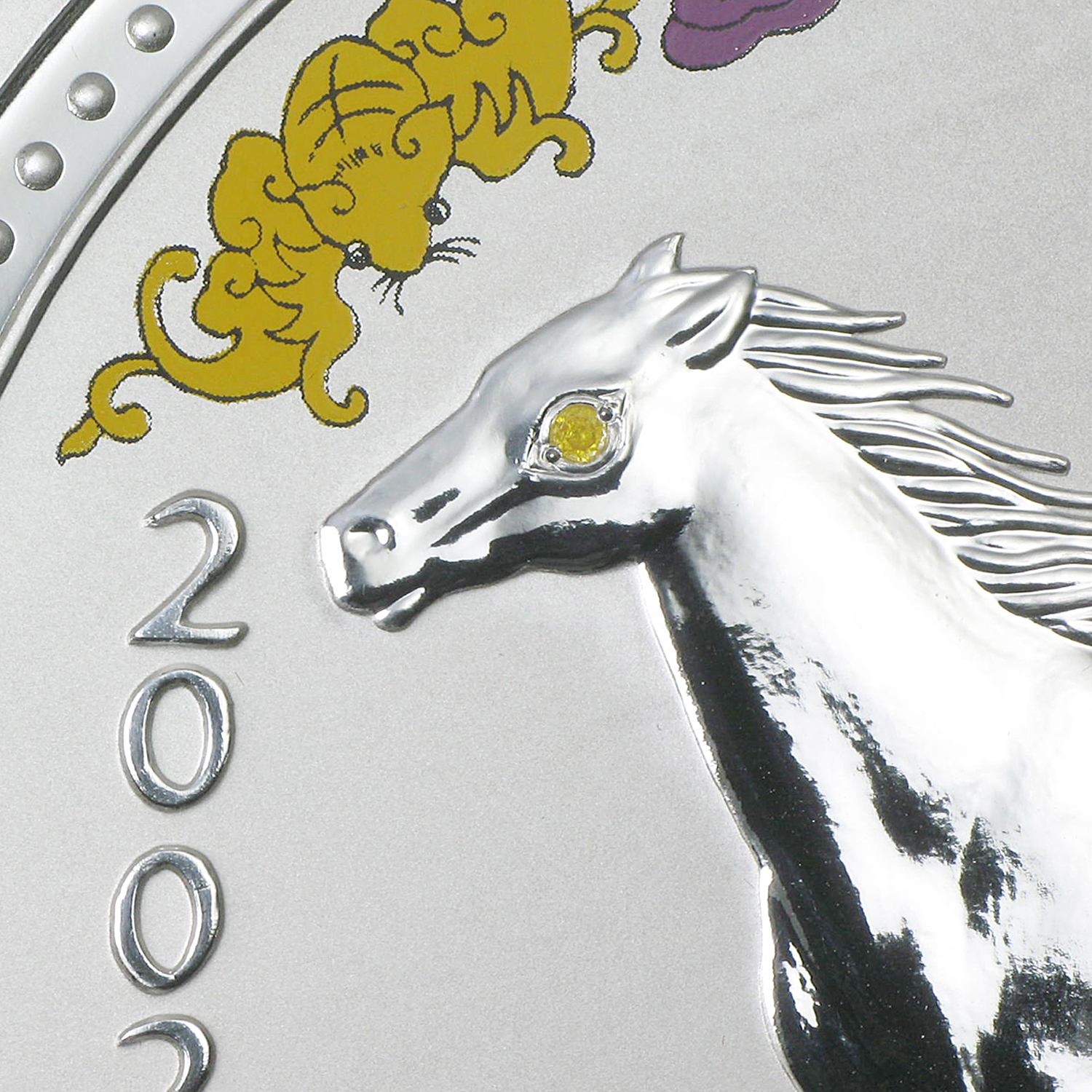 2002 1 kilo Silver Lunar Year of the Horse (Diamond Eye)