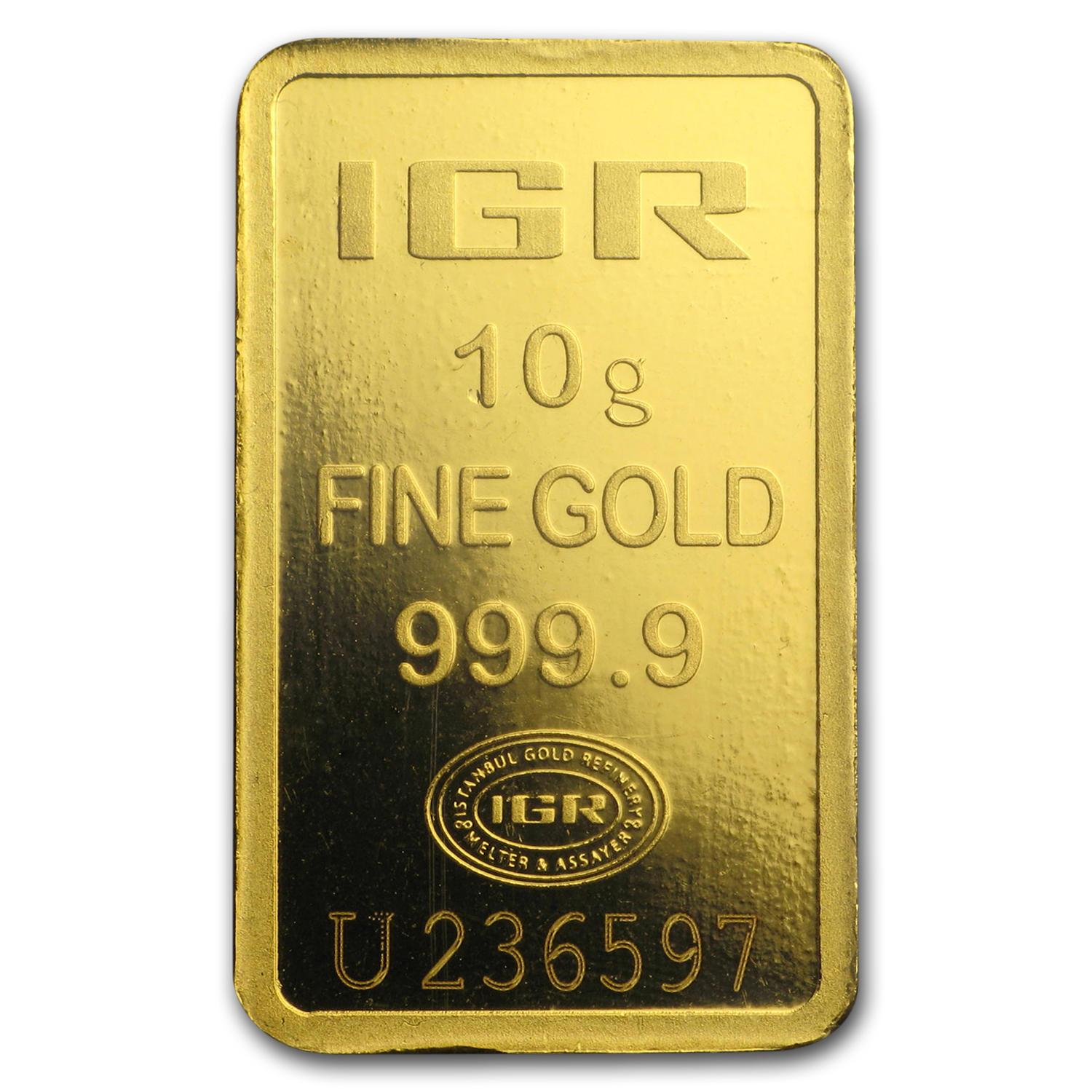 10 gram Gold Bars - Istanbul Gold Refinery (In Assay)