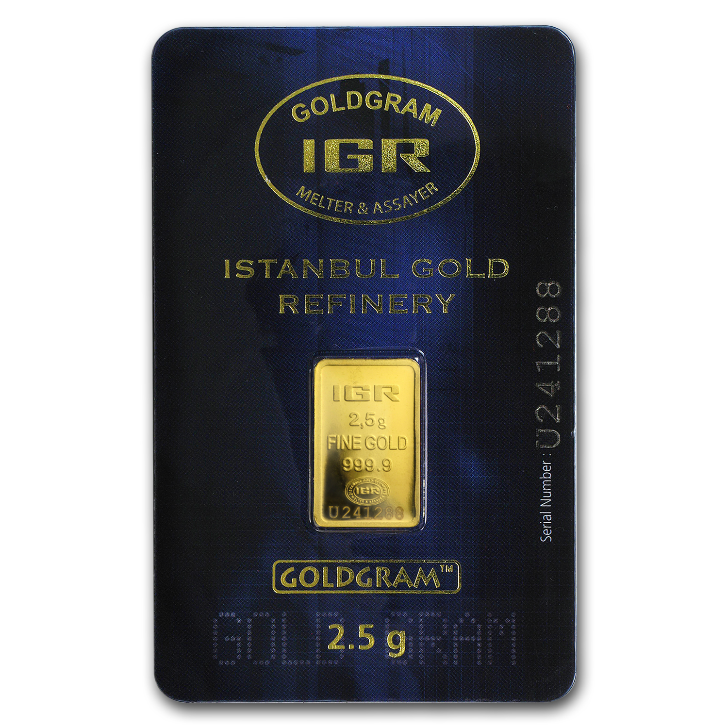 2.5 gram Gold Bar - Istanbul Gold Refinery (In Assay)