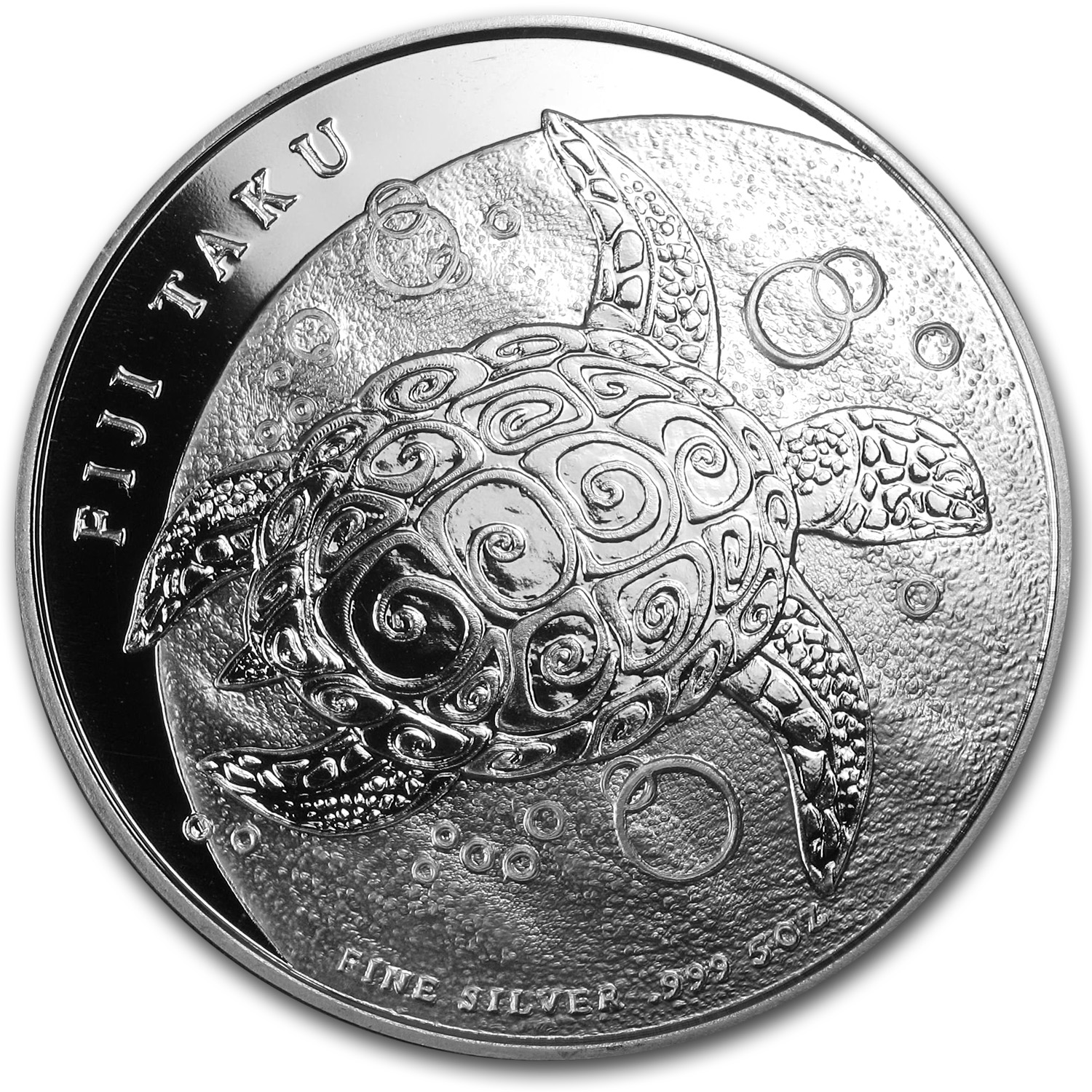 2011 5 oz Silver New Zealand Mint $10 Fiji Taku .999
