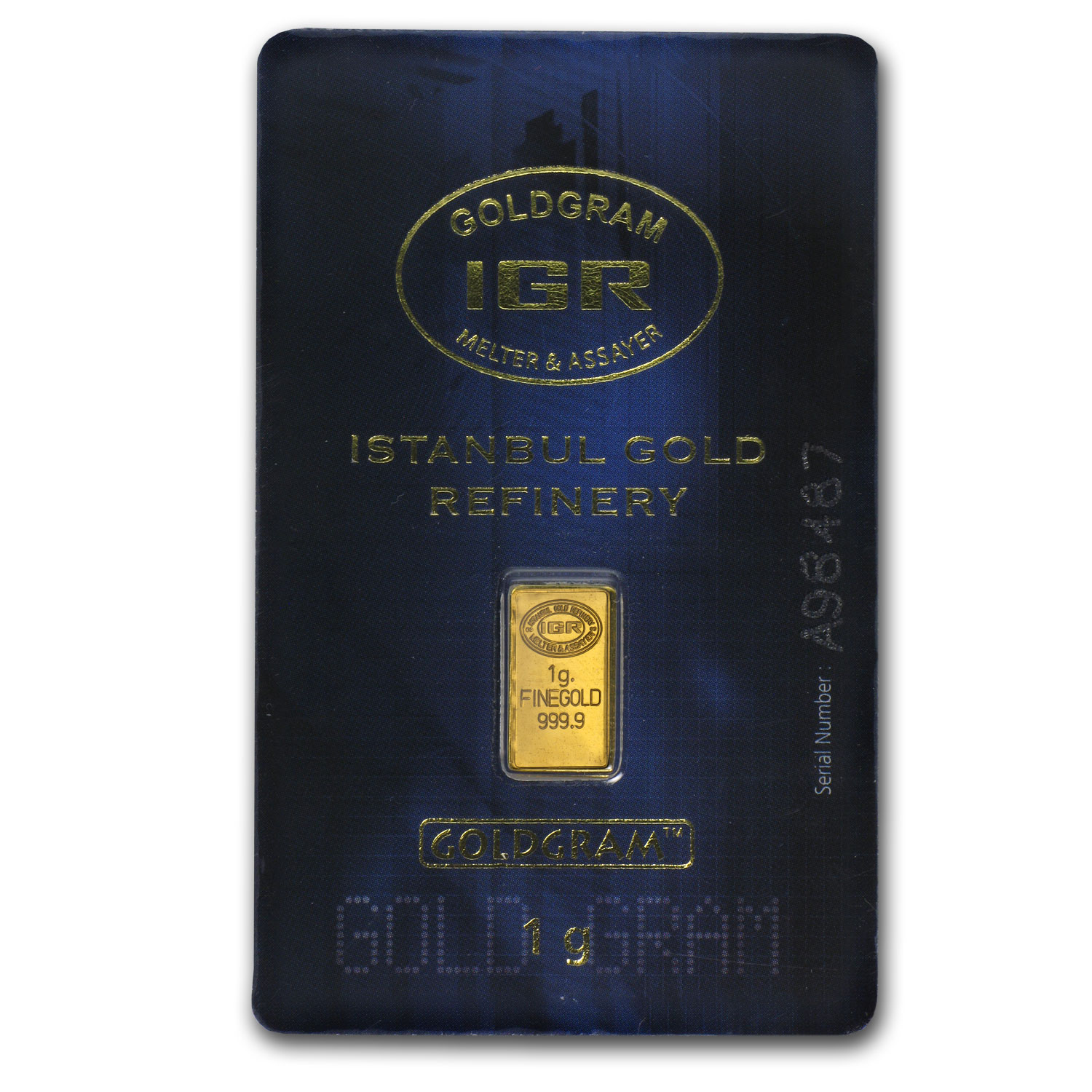 1 gram Gold Bars - Istanbul Gold Refinery (In Assay)