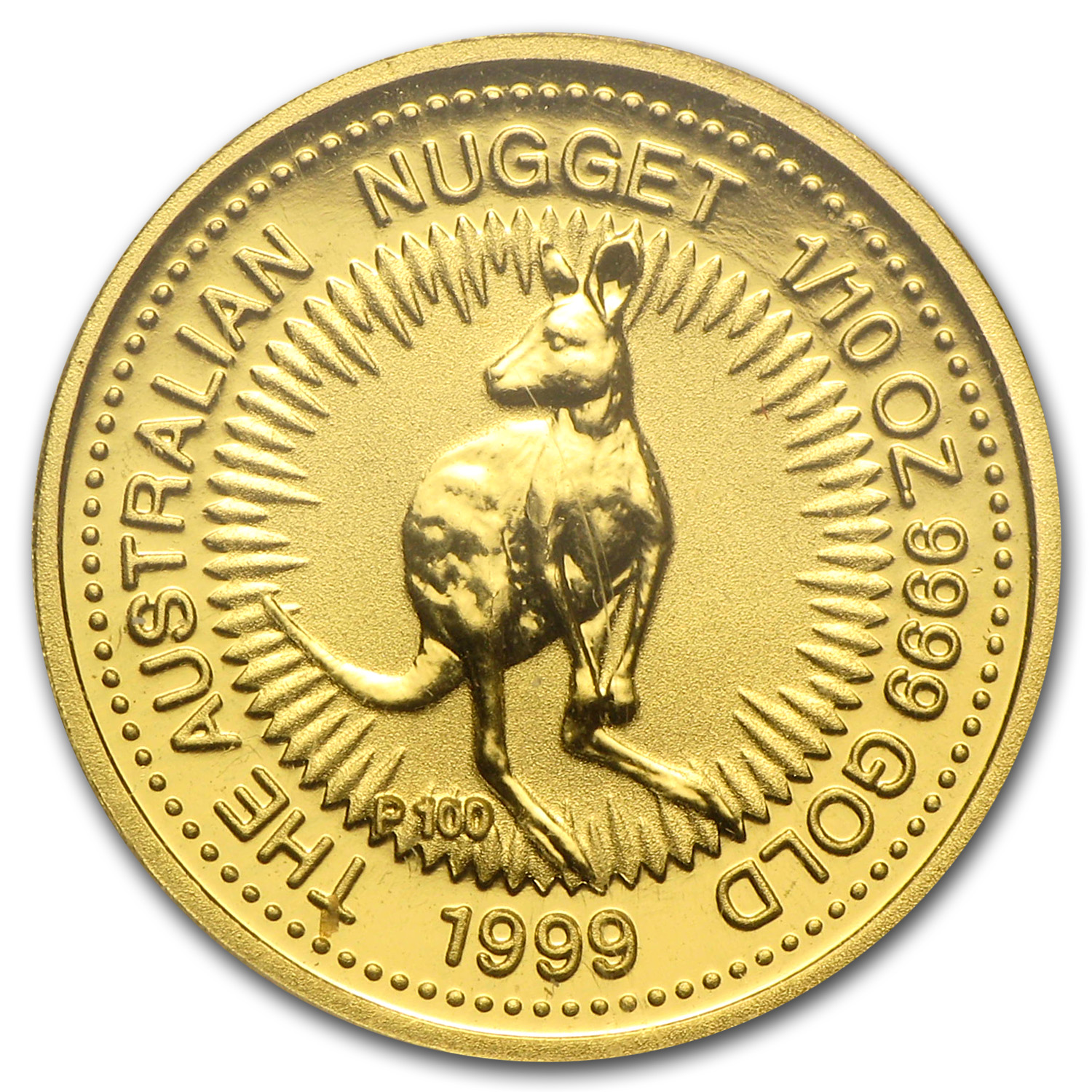 1999 Australia 1/10 oz Gold Nugget