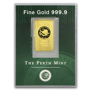 2.5 gram Gold Bar - Perth Mint (Old Style Swan)
