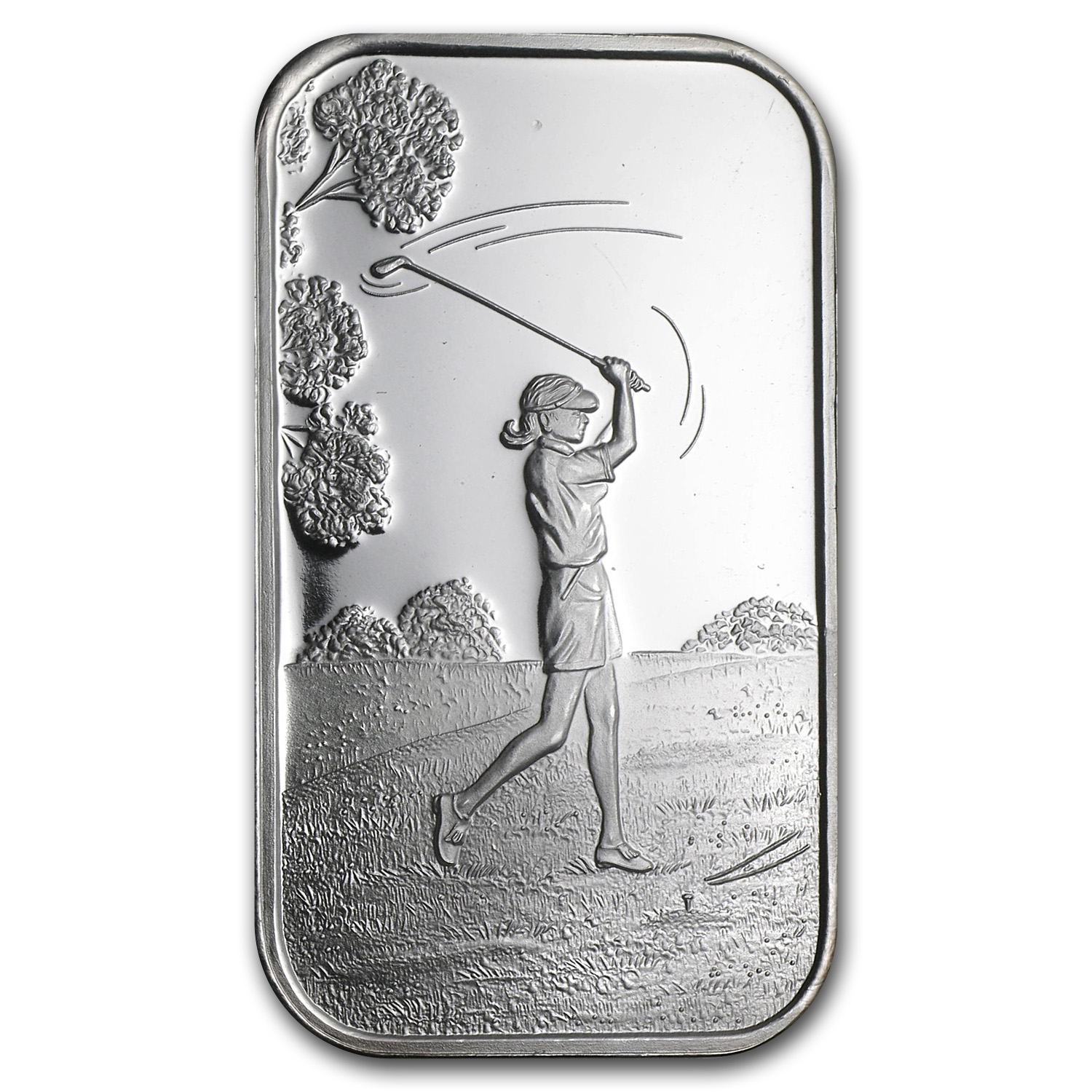 1 oz Silver Bar - Female Golfer