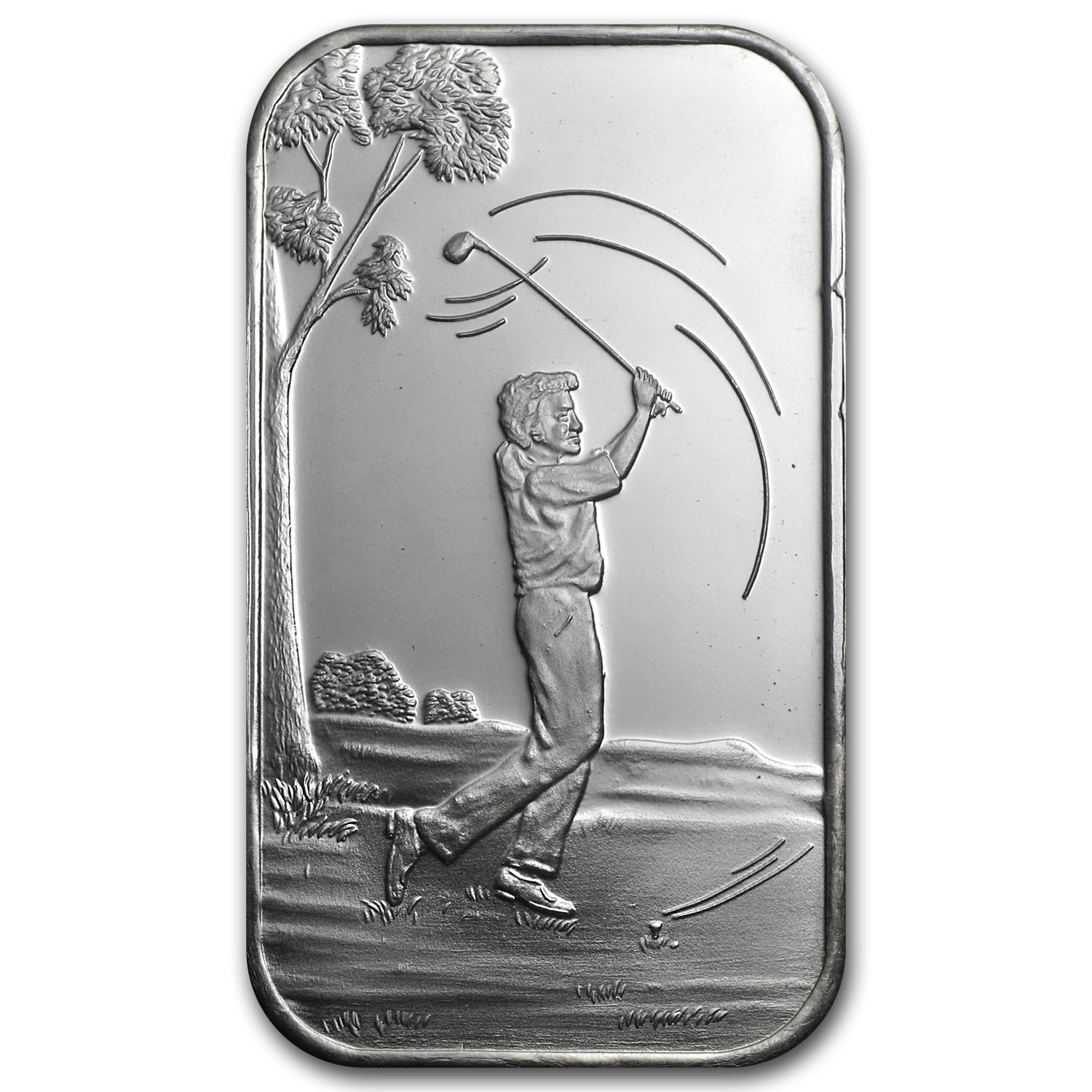 1 oz Silver Bar - Male Golfer