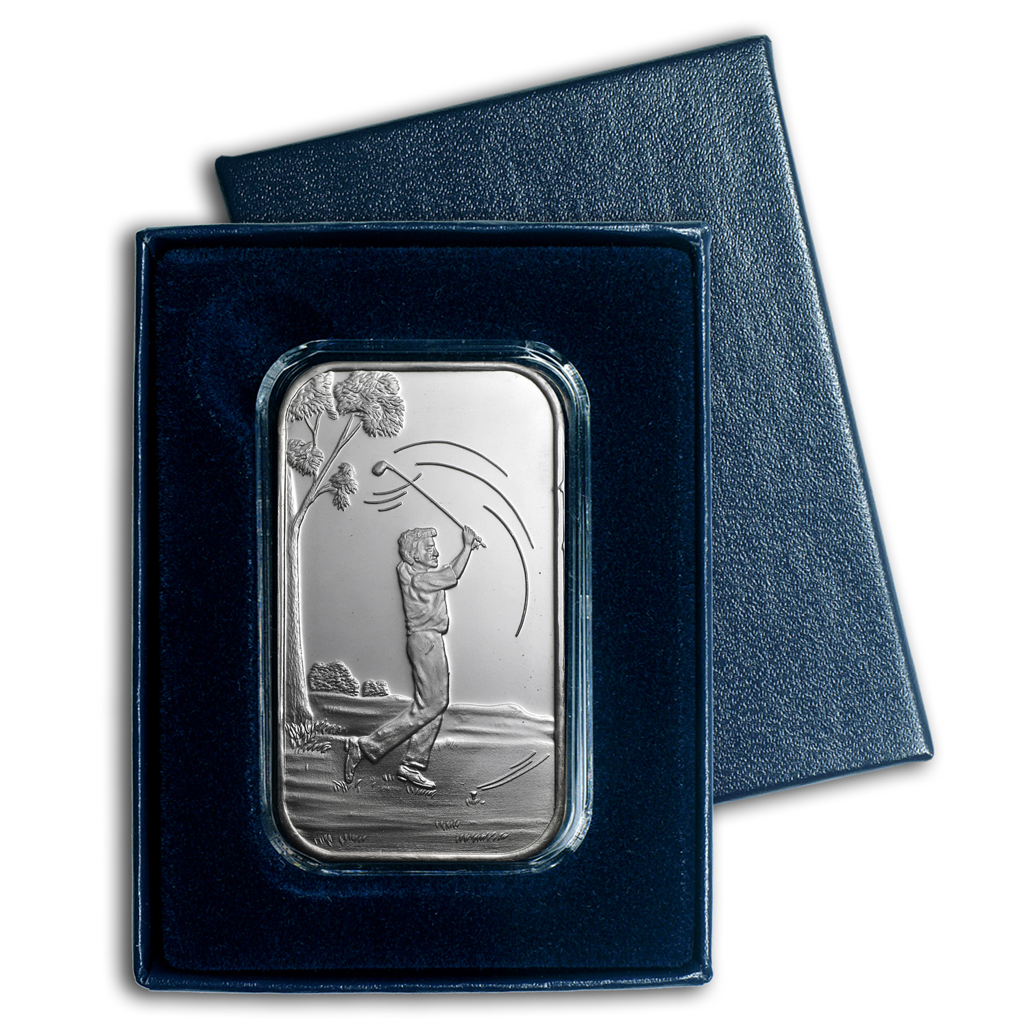 1 oz Silver Bars - Male Golfer (w/Gift Box & Capsule)