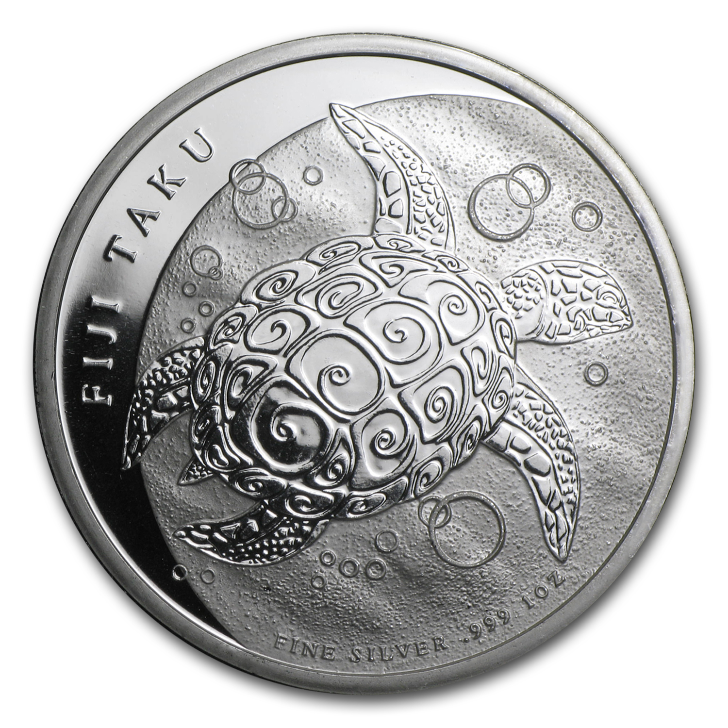 2010 1 oz Silver New Zealand $2 Fiji Taku