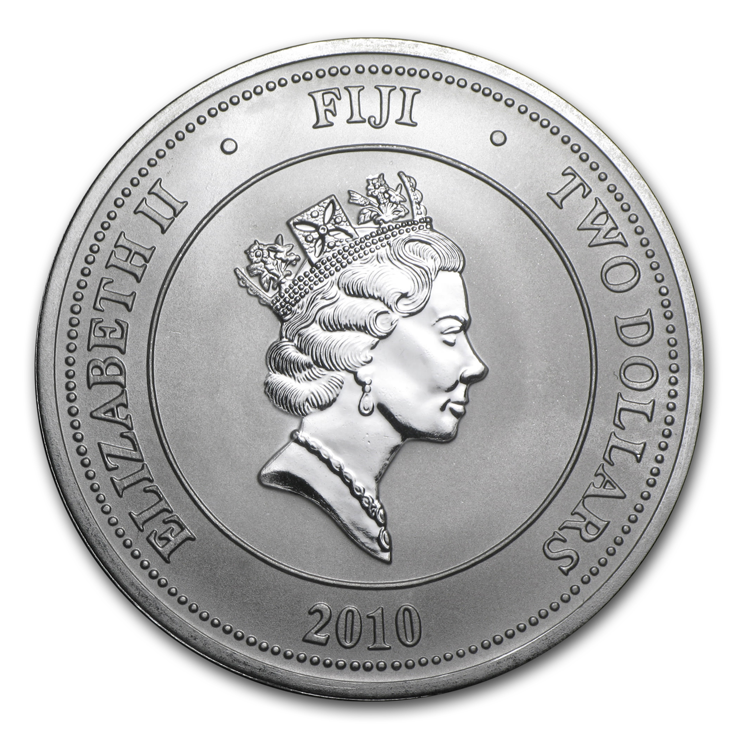 2010 1 oz Silver New Zealand $2 Fiji Taku .999 Fine
