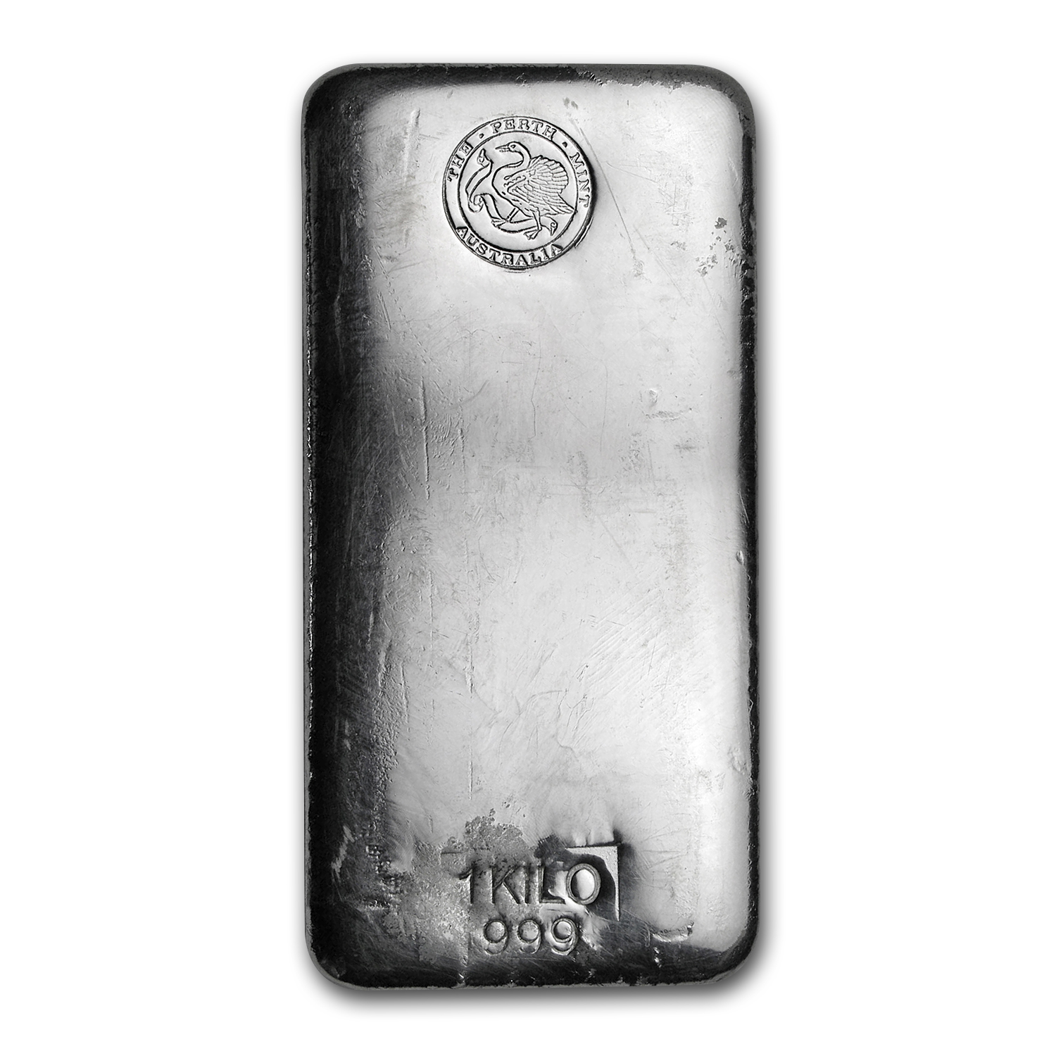 1 Kilo Silver Bars - Perth Mint (Poured)