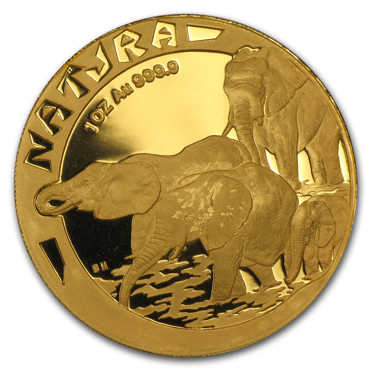 1996 South Africa 1 oz Proof Gold Natura Elephant