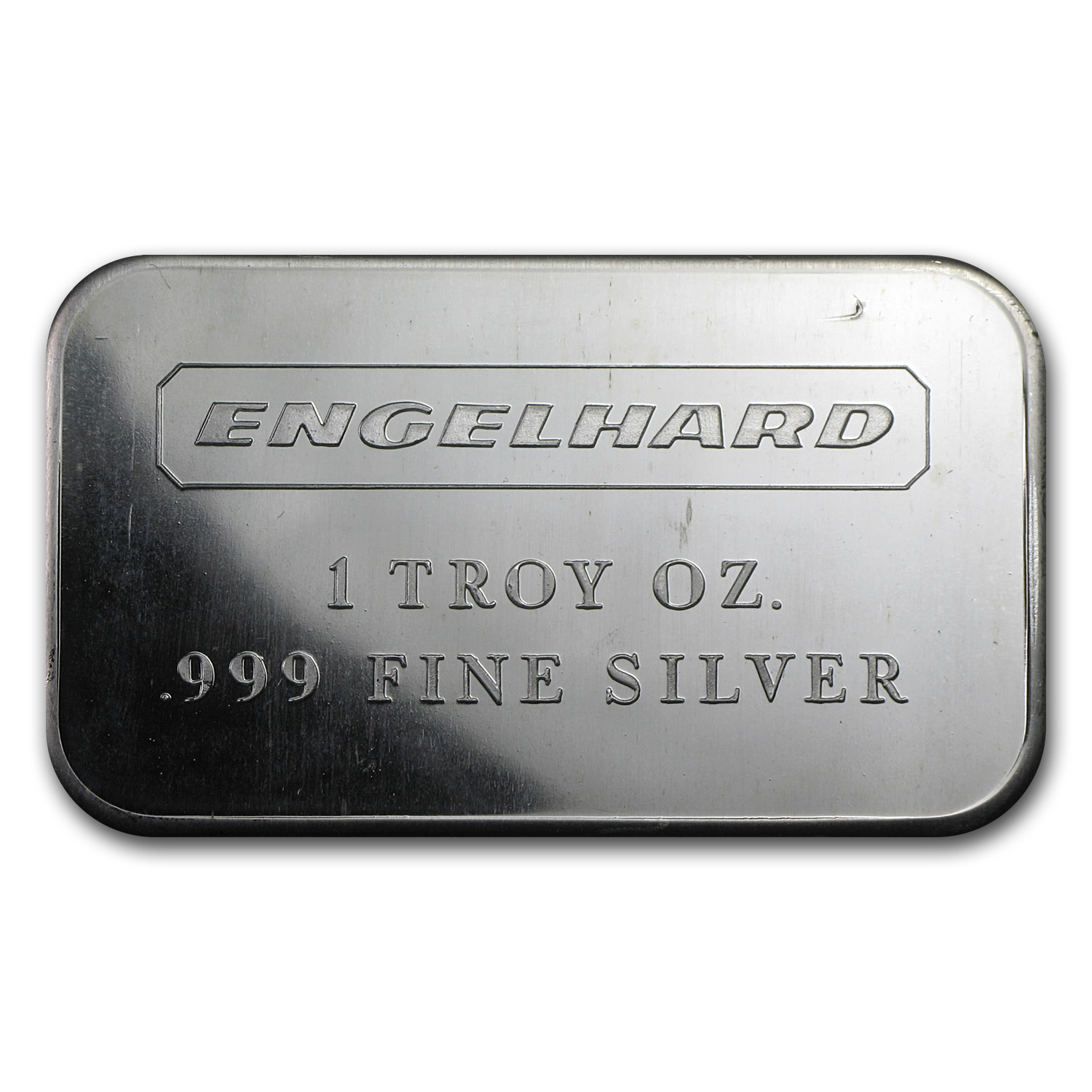 1 oz Silver Bar - Engelhard (Wide/No Serial #/Smooth/1980)