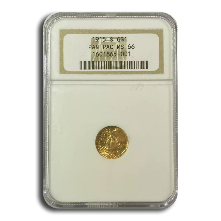 1915-S $1.00 Gold Panama-Pacific MS-66 NGC