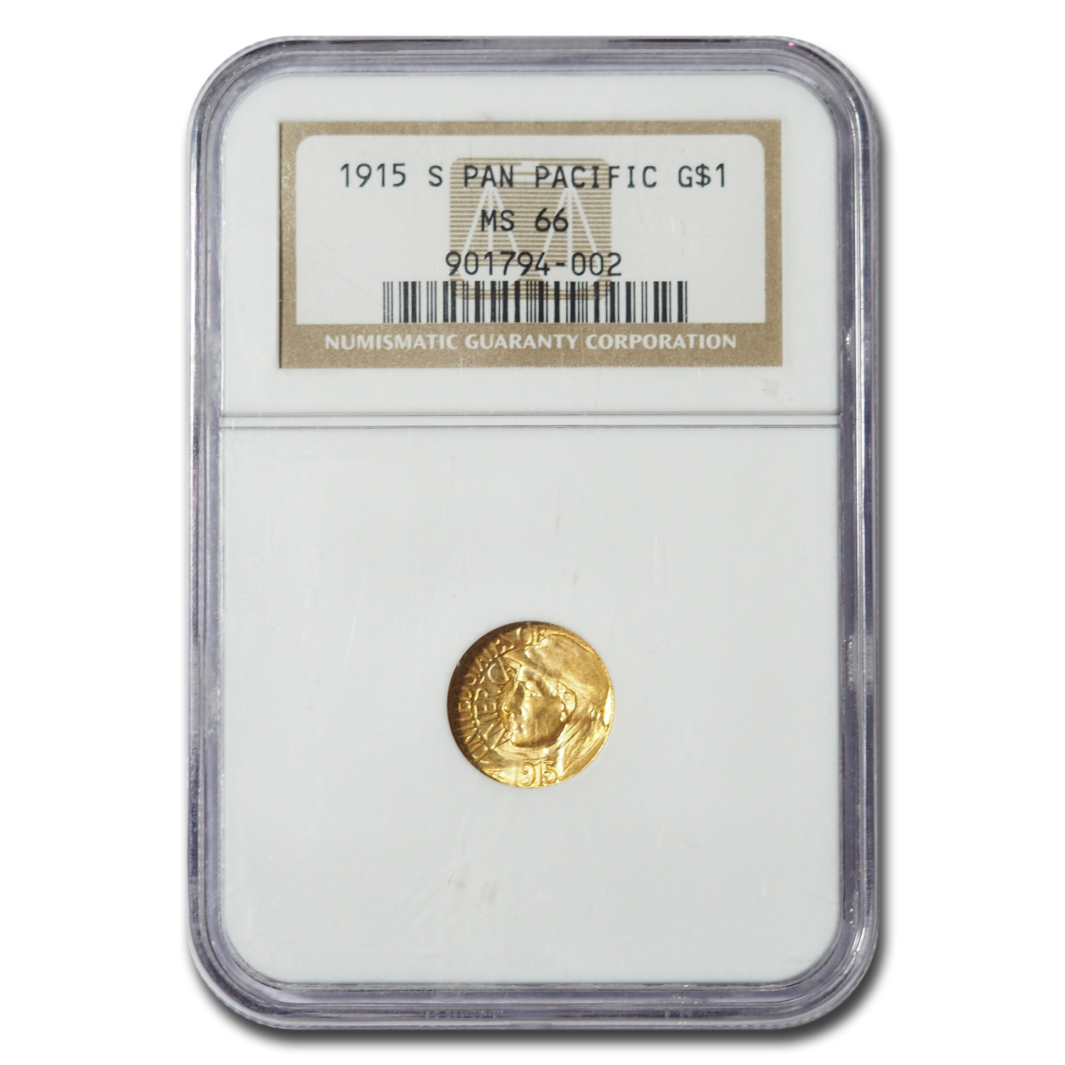1915-S Gold $1.00 Panama-Pacific MS-66 NGC