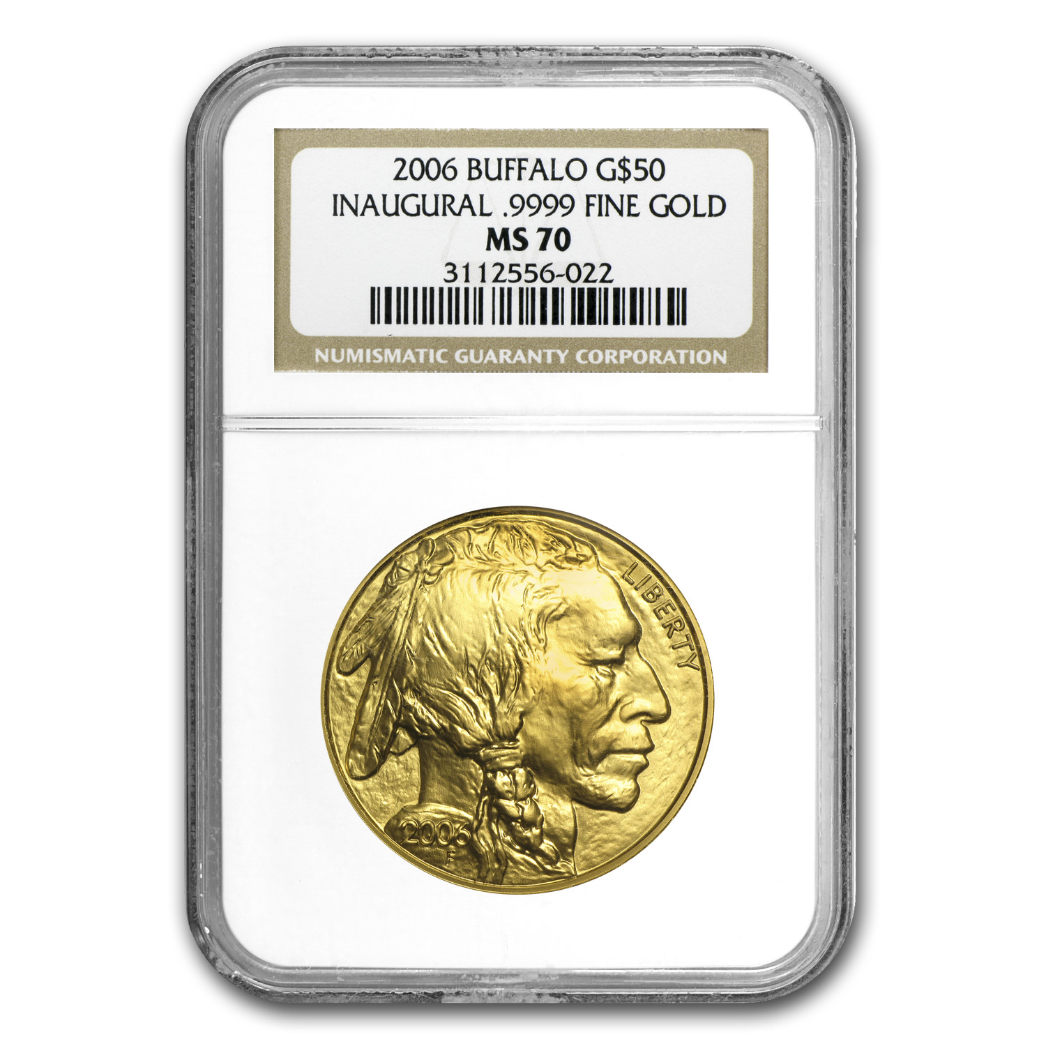 2006 1 oz Gold Buffalo MS-70 NGC (Inaugural Label)