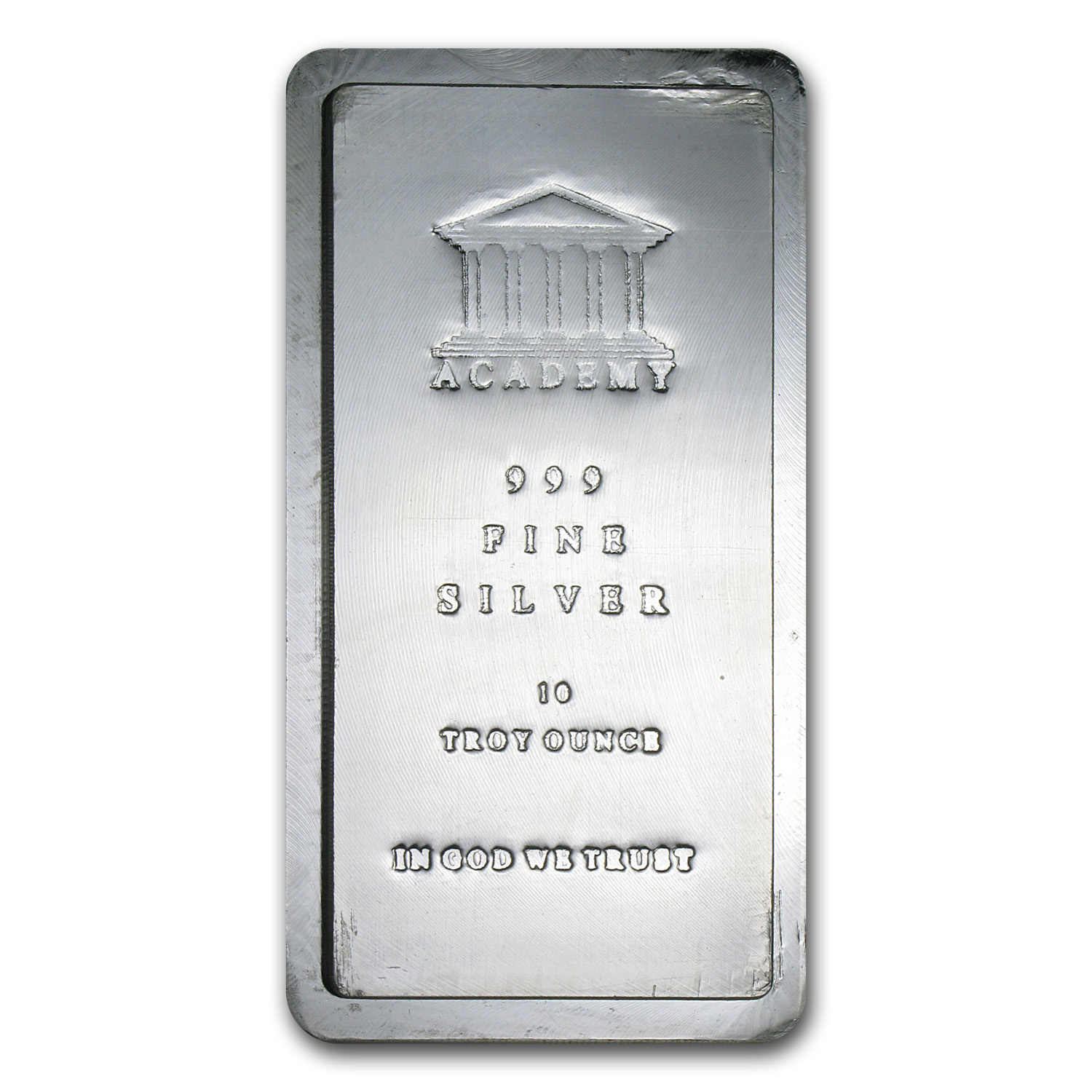 10 oz Silver Bar - Academy (Pressed, Stackable)