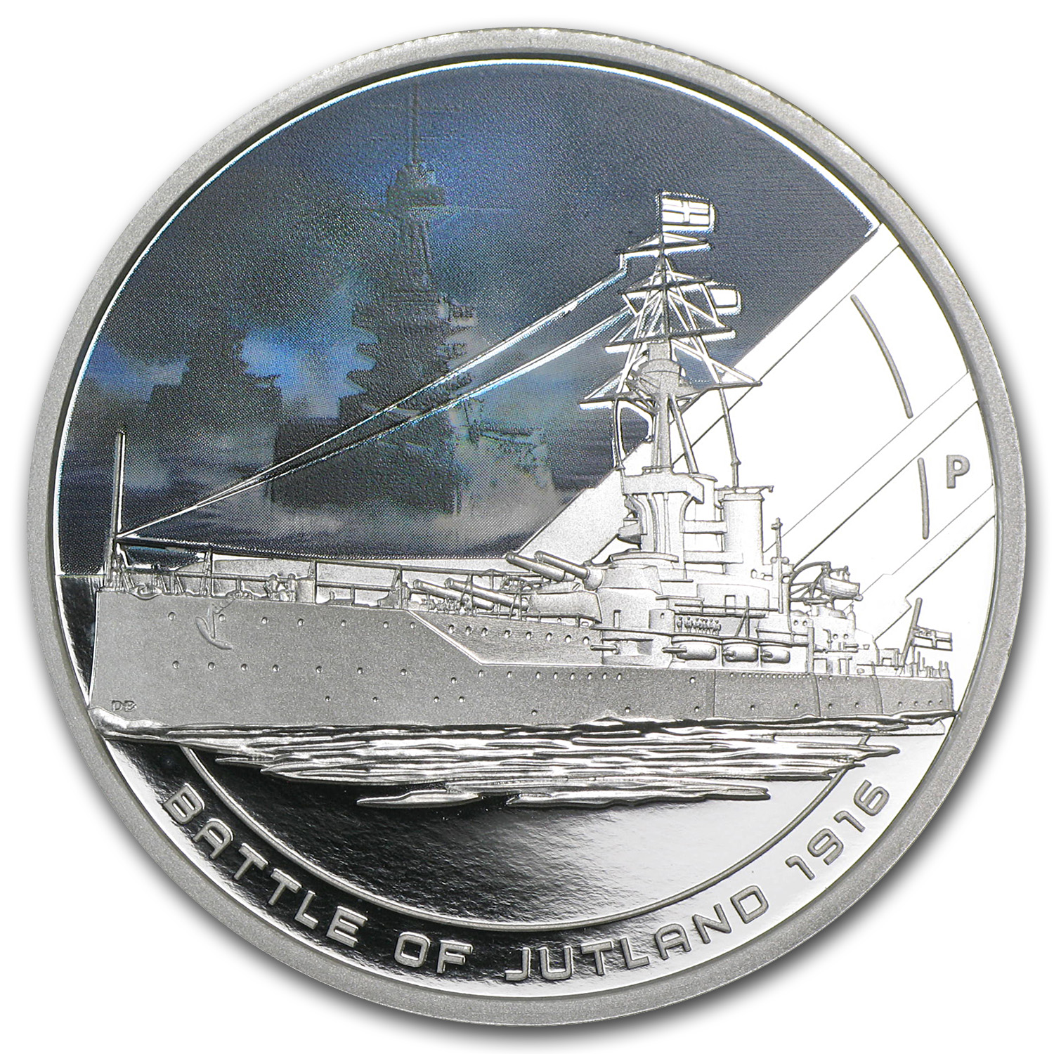 2011 Cook Islands 1 oz Silver Battle of Jutland Proof