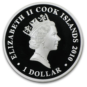 2010 1 oz Silver Cook Islands Battle of Hampton Proof