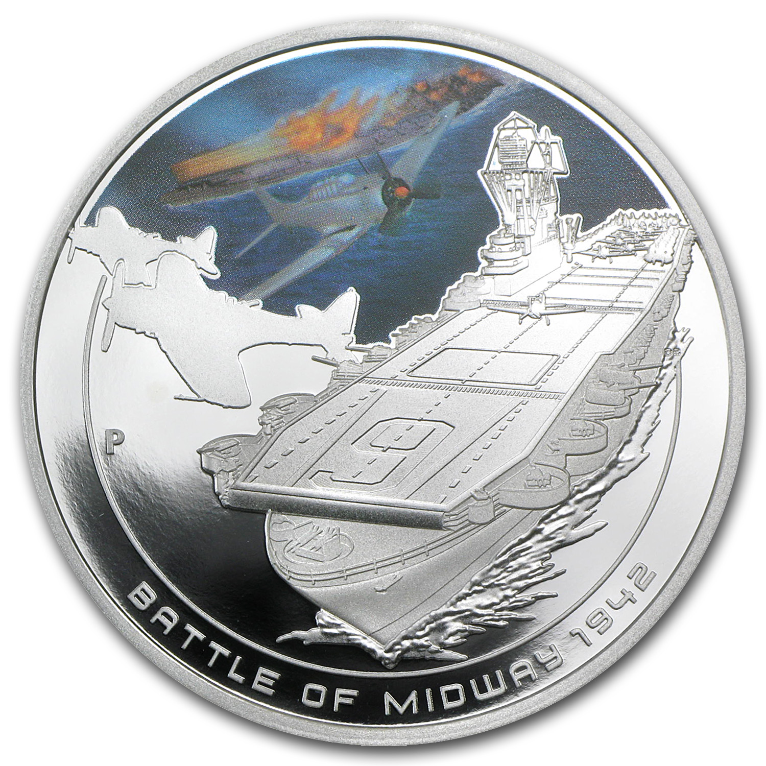 2011 Cook Islands 1 oz Silver Battle of Midway Proof